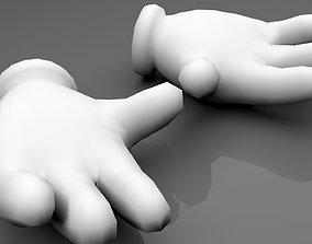Glove Hands 3D asset