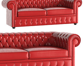 RED Classical Sofa 2 Places Churchill abajur 3D