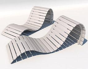 solid design sunbed 3D model
