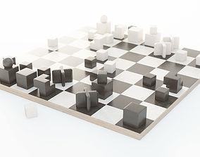 3D model Bauhaus Chess Set