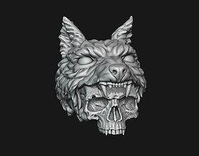 3D printable model Skull with Wolf Scalp