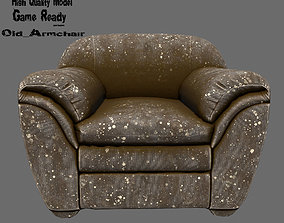 Armchair seating 3D asset low-poly