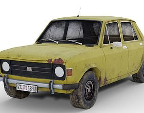 Yugo Zastava Old Rusty Car Low Poly 3D asset