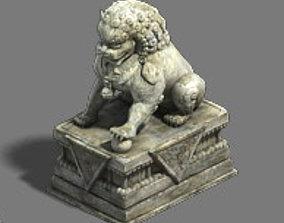 Medium city - stone lion 3D model