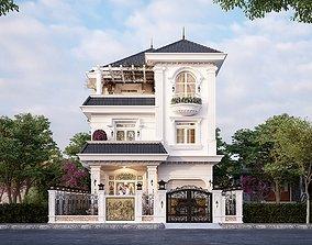 3D Classical home exterior