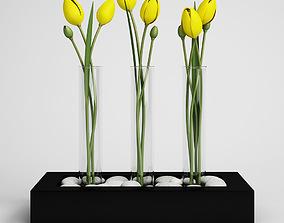 flower-pot CGAxis flower 3D model