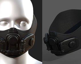 game-ready Gas mask respirator scifi futuristic