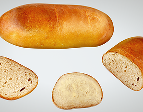 3D model game-ready Bread bakery