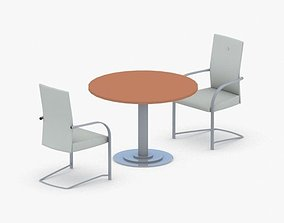 1312 - Office Table and Chairs Set 3D model