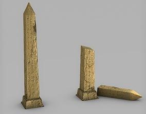 Obelisk broken obelisk 3D asset