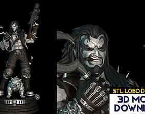 STL Lobo from DC Comics 3D Model Fanart version