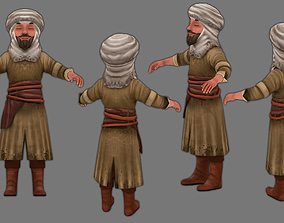 3D model man in a turban