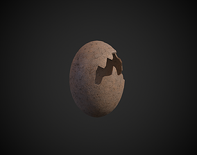 3D asset Broken Dinosaur Egg