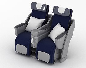3D model Lufthansa Business Class Seat