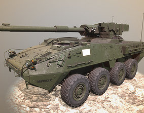 Stryker 1128 MGS GAME 3D asset game-ready
