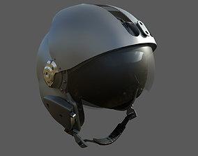 MSA Gallet LA100 Jet Pilot Flight Helmet 3D
