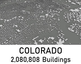 low-poly Colorado - 2080808 3D Buildings