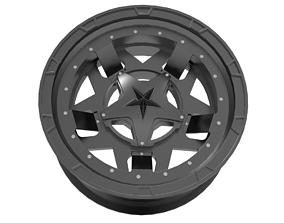 XD Series Rockstar RS3 Wheel Matte Black 3D print model