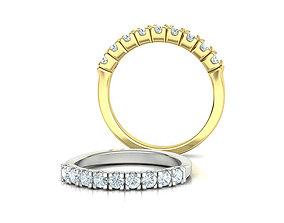 Eternity Ring 3d model 9 stones style printable