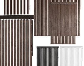 3D Vertical wooden blinds 3 options 3 colors