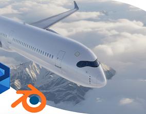 Airbus A350-1000 XWB No LIVERY 3D asset