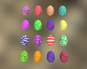 4 Sets Easter Eggs 3D model