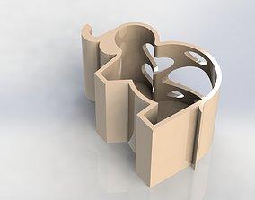 3D print model Elephant Pen Holder Water