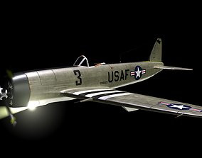 3D WWII USA Style Fighter Plane