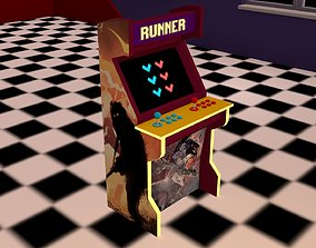 Low poly arcade machine Runner 3D model realtime