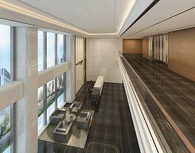 office reception hall design complete 12 3D model