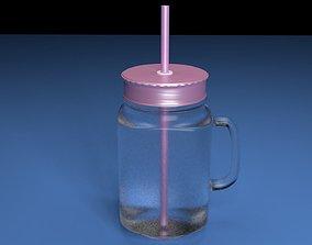 Glass mug 3D