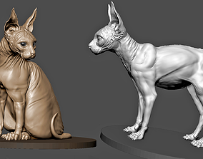 Sphinx Cat feline 3D print model