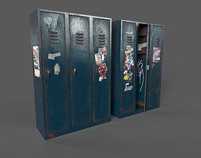 Vandalised Locker 3D asset