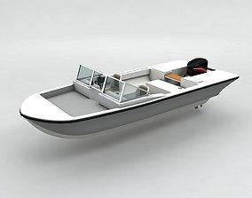 Motor Boat Dinghy 3D model