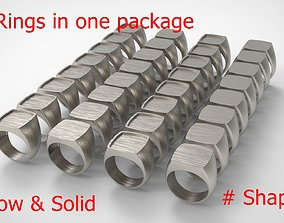 Signet Men Ring Pack No 27 3D print model