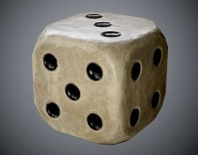 3D model antique dice PBR Game-Ready