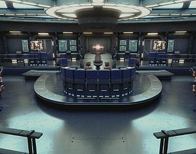 3D Starship Command Center High Poly PBR
