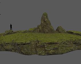 3D asset mossy terrain