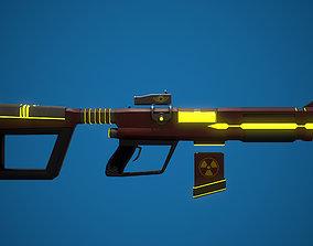 Sci-fi Rifle 3D asset