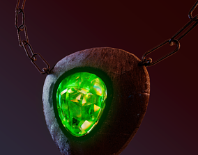 3D asset Game Amulet PBR and UW