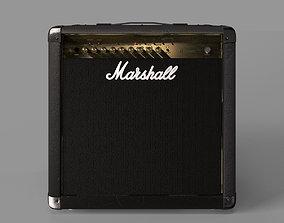 3D model marshall amplifier mg50fx