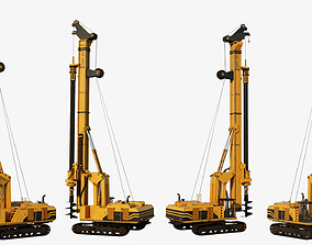 3D asset Drilling Rig Game Ready
