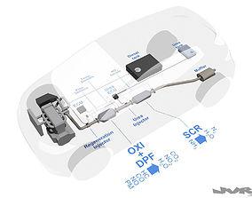 3D Diesel exhaust - Urea injection