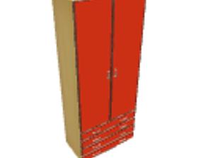 Orange wardrobe 3D
