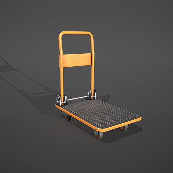 Orange Folding Platform Truck