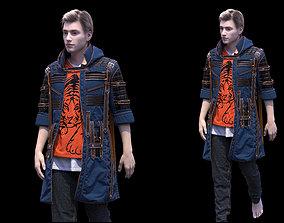Mens clothing Marvelous Designer project 3D model