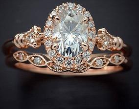Halo diamond ring 3D printable model