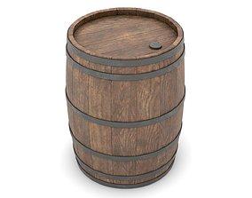 Wooden Barrel 3D PBR