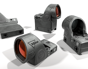 Trijicon SRO Specialized Reflex Optic 3D model low-poly