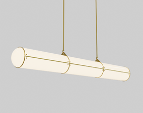 Endless Straight - 3 Units by Jason Miller Ceiling Lamp 3D